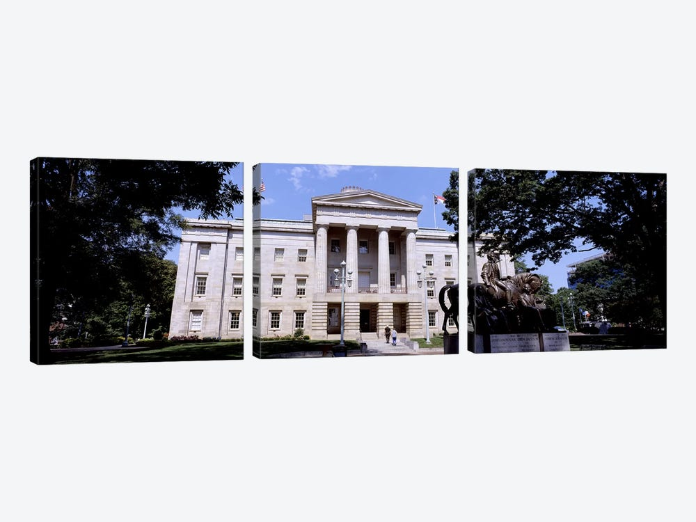 Facade of a government building, City Hall, Raleigh, Wake County, North Carolina, USA by Panoramic Images 3-piece Art Print