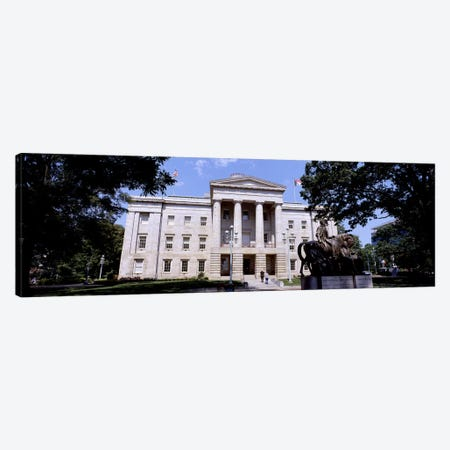 Facade of a government building, City Hall, Raleigh, Wake County, North Carolina, USA 3-Piece Canvas #PIM10717} by Panoramic Images Canvas Print