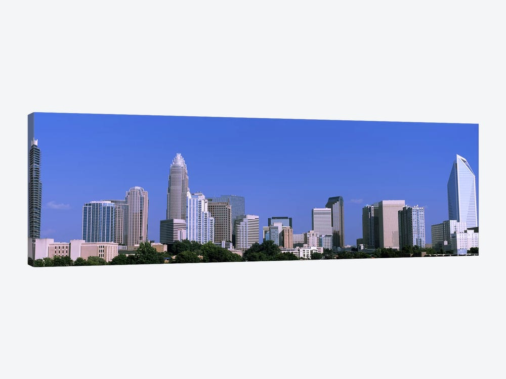 Downtown (Uptown) Skyline, Charlotte, Mecklenburg County, North Carolina, USA by Panoramic Images 1-piece Canvas Print