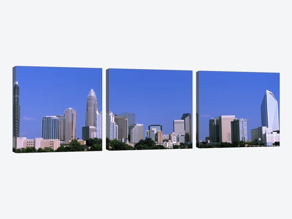 Downtown (Uptown) Skyline, Charlotte, Mecklenburg County, North Carolina, USA by Panoramic Images 3-piece Art Print