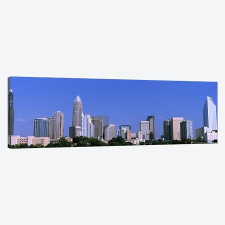 Downtown (Uptown) Skyline, Charlotte, Mecklenburg County, North Carolina, USA 3-Piece Canvas #PIM10719} by Panoramic Images Canvas Artwork