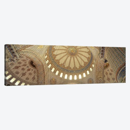 Interiors of a mosque, Blue Mosque, Istanbul, Turkey Canvas Print #PIM10727} by Panoramic Images Canvas Artwork