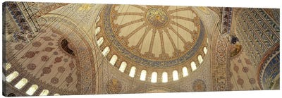 Interiors of a mosque, Blue Mosque, Istanbul, Turkey Canvas Art Print
