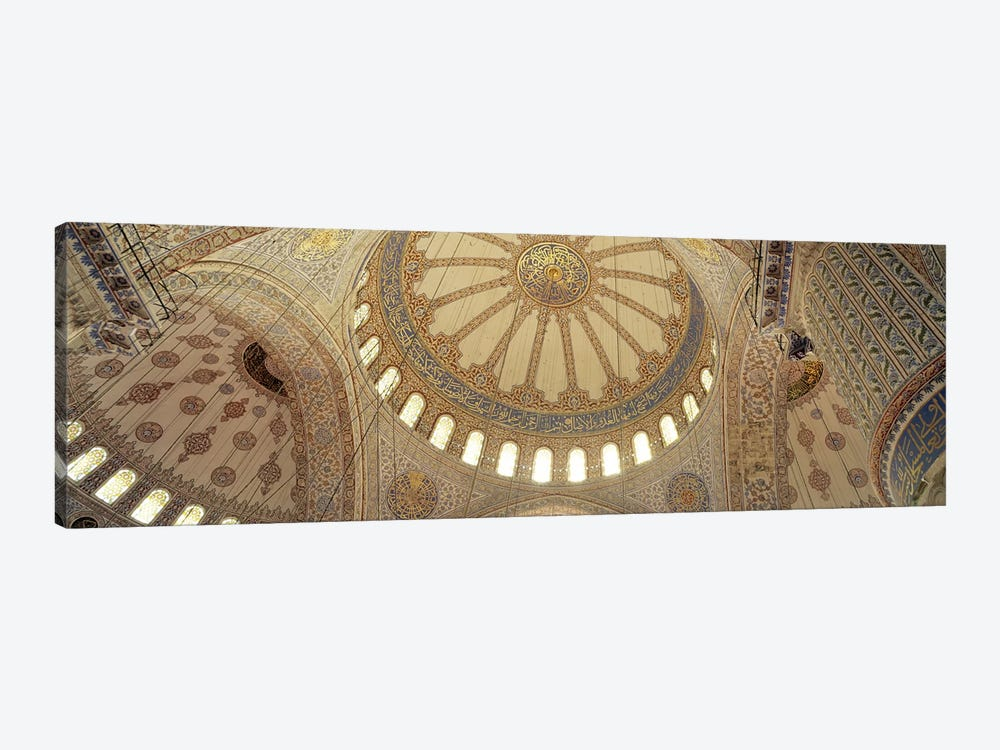 Interiors of a mosque, Blue Mosque, Istanbul, Turkey by Panoramic Images 1-piece Canvas Art