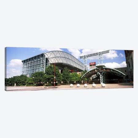 Baseball field, Minute Maid Park, Houston, Texas, USA Canvas Print #PIM10748} by Panoramic Images Art Print