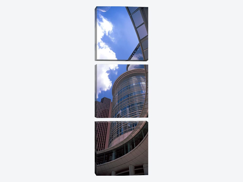 Low angle view of a building, Chevron Building, Houston, Texas, USA by Panoramic Images 3-piece Canvas Artwork
