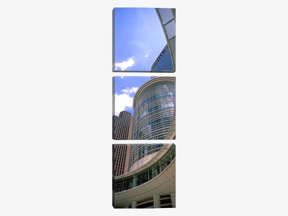 Low angle view of a building, Chevron Building, Houston, Texas, USA #2 by Panoramic Images 3-piece Canvas Art