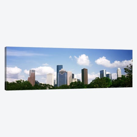 Skyscrapers in a city, Houston, Texas, USA Canvas Print #PIM10751} by Panoramic Images Canvas Artwork