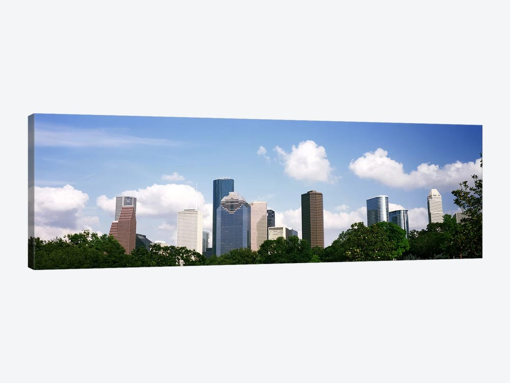 Skyscrapers in a city, Houston, Texas, USA 1-piece Canvas Art Print