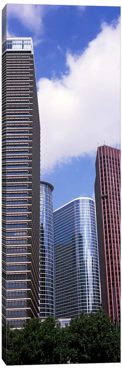 Low angle view of a building, Houston, Texas, USA Canvas Art Print