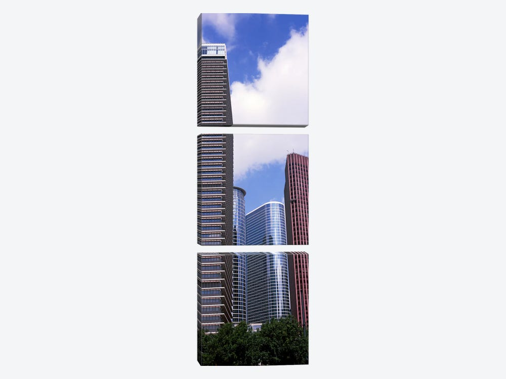 Low angle view of a building, Houston, Texas, USA by Panoramic Images 3-piece Canvas Wall Art