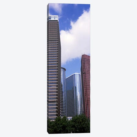 Low angle view of a building, Houston, Texas, USA 3-Piece Canvas #PIM10752} by Panoramic Images Canvas Wall Art