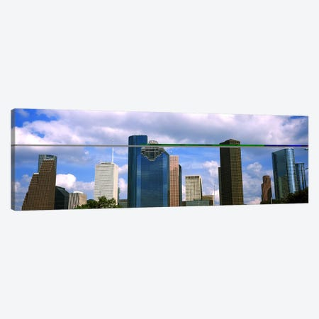 Low angle view of skyscrapers, Houston, Texas, USA Canvas Print #PIM10753} by Panoramic Images Canvas Wall Art