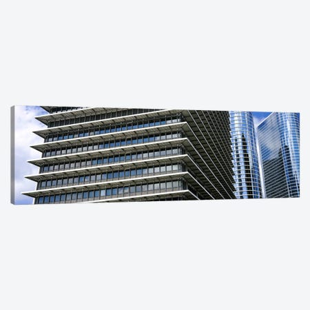 Low angle view of buildings in a city, ExxonMobil Building, Chevron Building, Houston, Texas, USA Canvas Print #PIM10754} by Panoramic Images Canvas Art Print
