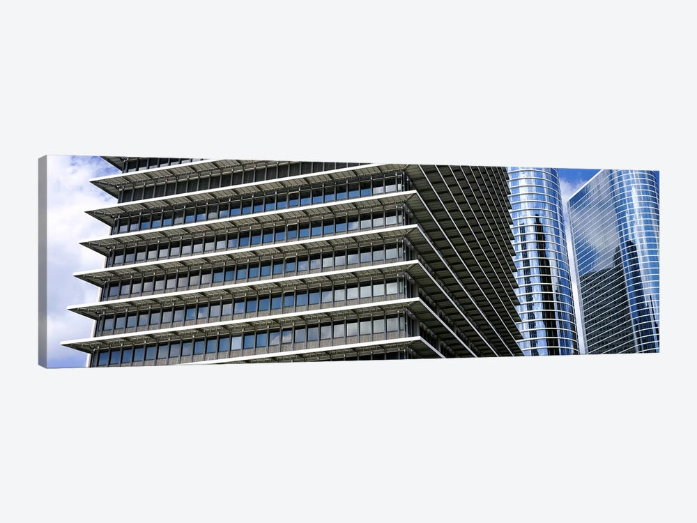 Low angle view of buildings in a city, ExxonMobil Building, Chevron Building, Houston, Texas, USA by Panoramic Images 1-piece Canvas Artwork