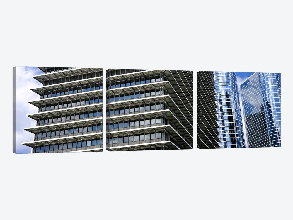 Low angle view of buildings in a city, ExxonMobil Building, Chevron Building, Houston, Texas, USA by Panoramic Images 3-piece Canvas Artwork