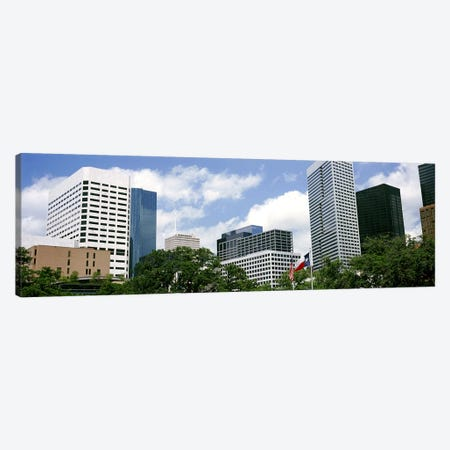 Skyscrapers in a city, Houston, Texas, USA #2 Canvas Print #PIM10756} by Panoramic Images Canvas Art Print