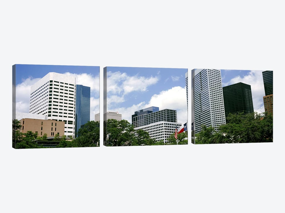 Skyscrapers in a city, Houston, Texas, USA #2 by Panoramic Images 3-piece Canvas Wall Art