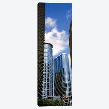 Low angle view of buildings in a city, Wedge Tower, ExxonMobil Building, Chevron Building, Houston, Texas, USA #2 Canvas Print #PIM10759} by Panoramic Images Canvas Wall Art