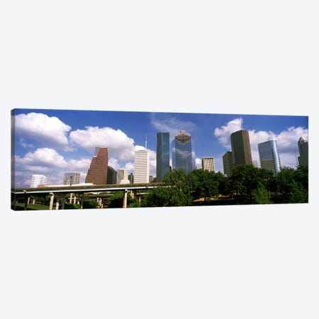 Low angle view of buildings in a city, Wedge Tower, ExxonMobil Building, Chevron Building, Houston, Texas, USA #3 Canvas Print #PIM10760} by Panoramic Images Canvas Art Print
