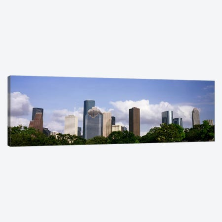 Low angle view of buildings in a city, Wedge Tower, ExxonMobil Building, Chevron Building, Houston, Texas, USA #4 Canvas Print #PIM10761} by Panoramic Images Art Print