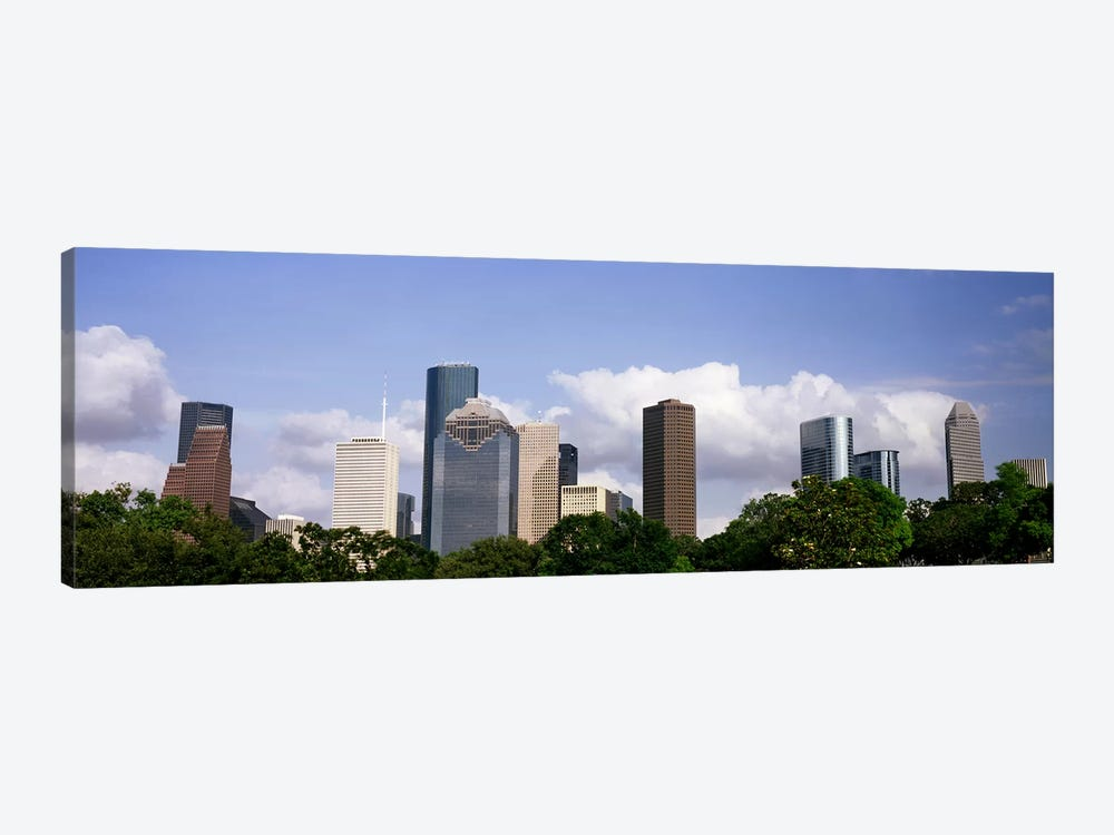 Low angle view of buildings in a city, Wedge Tower, ExxonMobil Building, Chevron Building, Houston, Texas, USA #4 by Panoramic Images 1-piece Canvas Wall Art