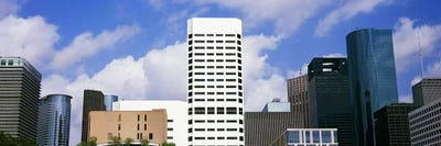 Low angle view of buildings in a city, Wedge Tower, ExxonMobil Building,  Chevron Building, Houston, Texas, USA #5 Canvas Artwork by Panoramic Images