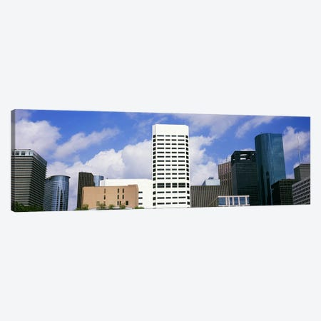Low angle view of buildings in a city, Wedge Tower, ExxonMobil Building, Chevron Building, Houston, Texas, USA #5 Canvas Print #PIM10762} by Panoramic Images Canvas Art Print