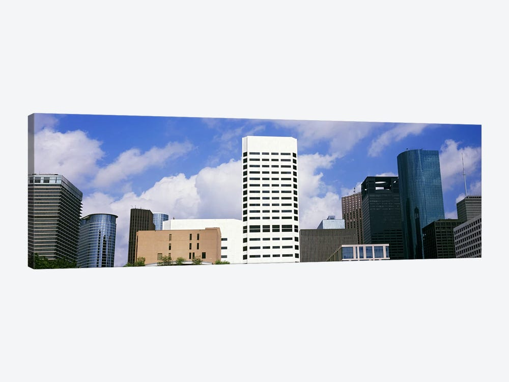 Low angle view of buildings in a city, Wedge Tower, ExxonMobil Building, Chevron Building, Houston, Texas, USA #5 by Panoramic Images 1-piece Canvas Print