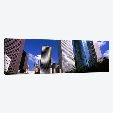 Low-Angle View Of Downtown Skyscrapers, Houston, Texas, USA Canvas Print #PIM10763} by Panoramic Images Canvas Art Print