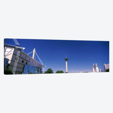 Buildings in a city, Alamodome, Tower of the Americas, San Antonio Marriott, Grand Hyatt San Antonio, San Antonio, Texas, USA Canvas Print #PIM10764} by Panoramic Images Canvas Wall Art