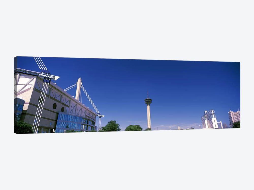 Buildings in a city, Alamodome, Tower of the Americas, San Antonio Marriott, Grand Hyatt San Antonio, San Antonio, Texas, USA by Panoramic Images 1-piece Canvas Print