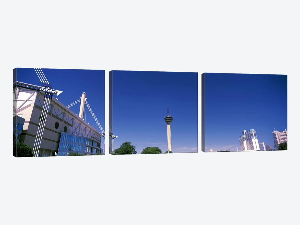 Buildings in a city, Alamodome, Tower of the Americas, San Antonio Marriott, Grand Hyatt San Antonio, San Antonio, Texas, USA by Panoramic Images 3-piece Art Print