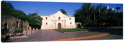 Facade of a building, The Alamo, San Antonio, Texas, USA #2 Canvas Art Print