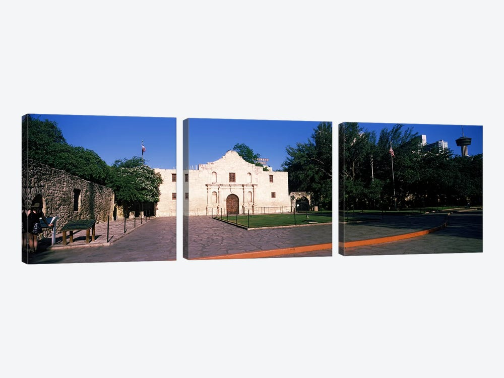 Facade of a building, The Alamo, San Antonio, Texas, USA #2 by Panoramic Images 3-piece Canvas Artwork