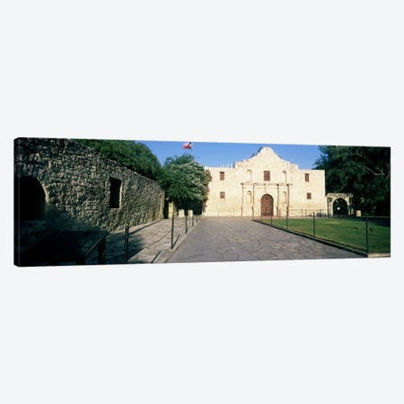 Facade of a building, The Alamo, San Antonio, Texas, USA Canvas Print #PIM10766} by Panoramic Images Canvas Artwork