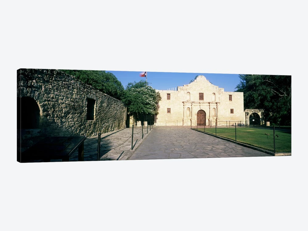 Facade of a building, The Alamo, San Antonio, Texas, USA by Panoramic Images 1-piece Canvas Print