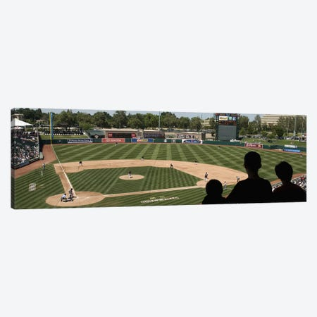 Spectator watching a baseball match at stadium, Raley Field, West Sacramento, Yolo County, California, USA Canvas Print #PIM10768} by Panoramic Images Art Print