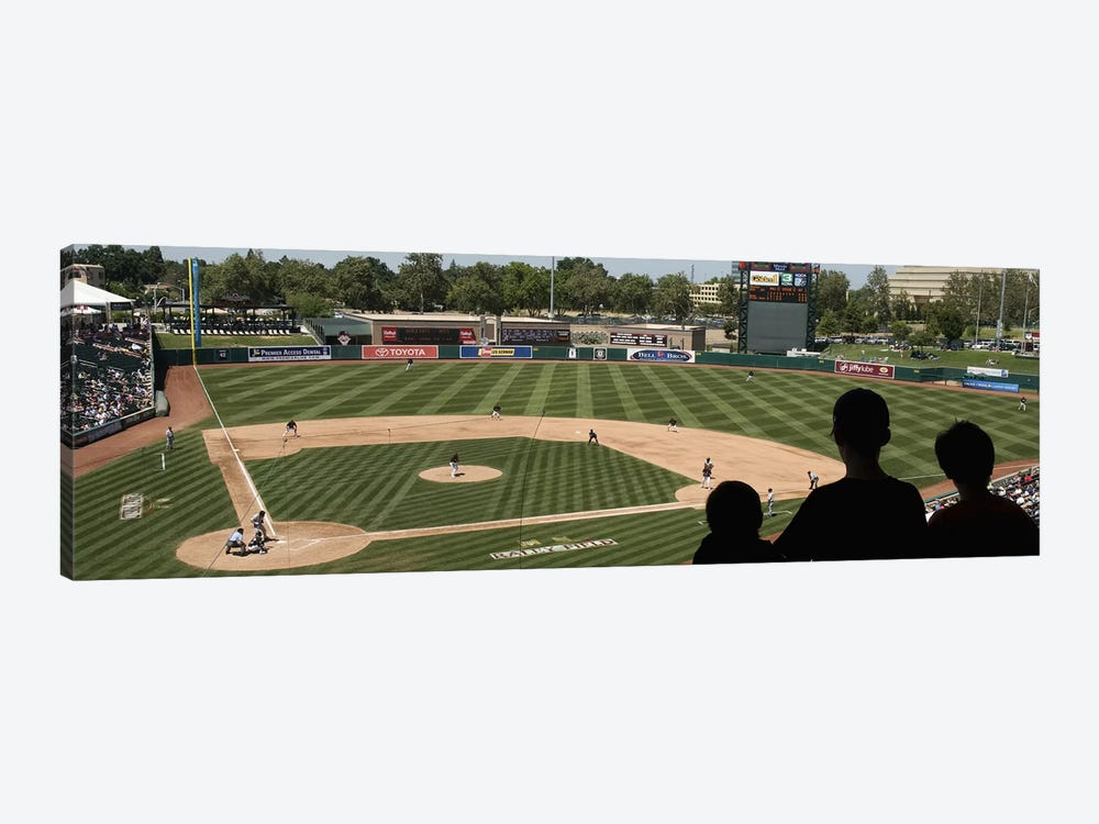 Spectator watching a baseball match at stadium, Raley Field, West Sacramento, Yolo County, California, USA by Panoramic Images 1-piece Canvas Print