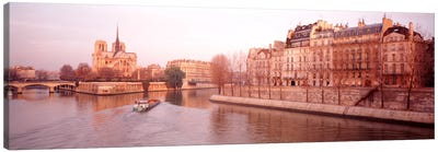Waterfront Architecture Along The Seine, Ile de la Cite & Ile Saint-Louis, Paris, France Canvas Print #PIM1076