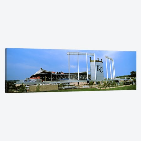 Baseball stadium in a city, Kauffman Stadium, Kansas City, Missouri, USA Canvas Print #PIM10774} by Panoramic Images Canvas Print