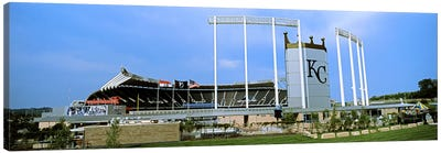 Baseball stadium in a city, Kauffman Stadium, Kansas City, Missouri, USA Canvas Art Print