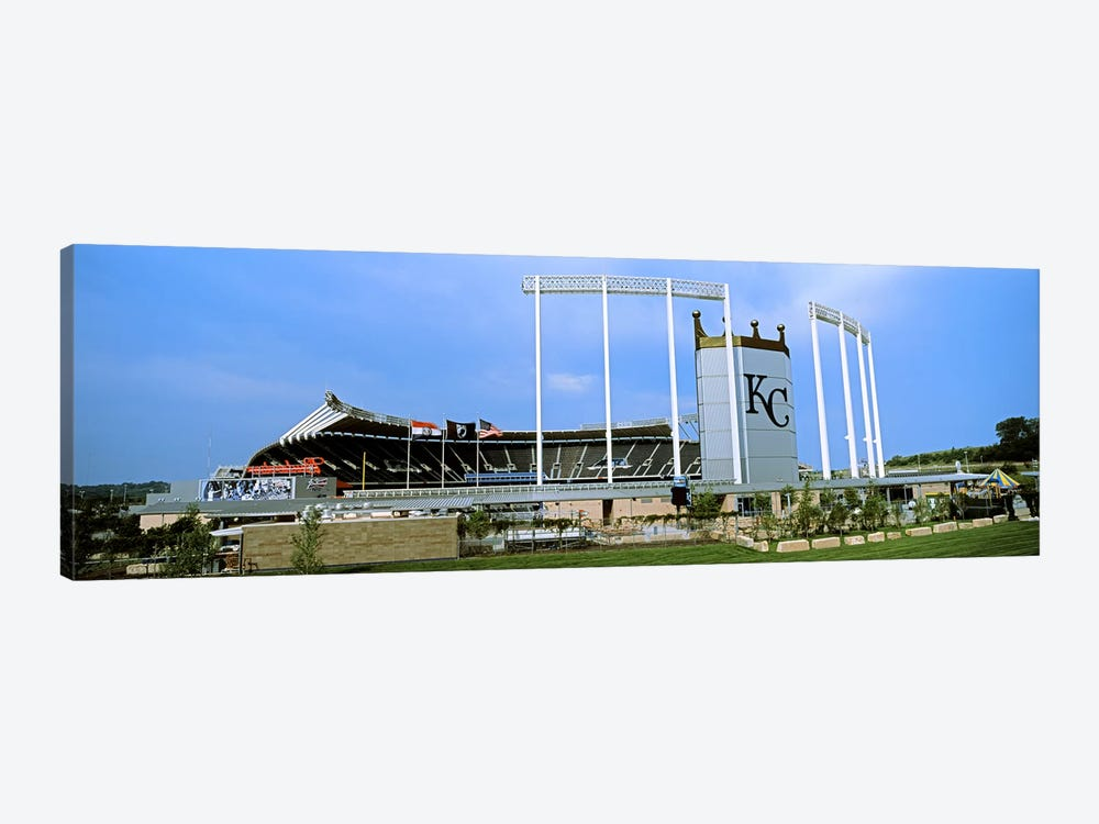 Baseball stadium in a city, Kauffman Stadium, Kansas City, Missouri, USA by Panoramic Images 1-piece Canvas Artwork
