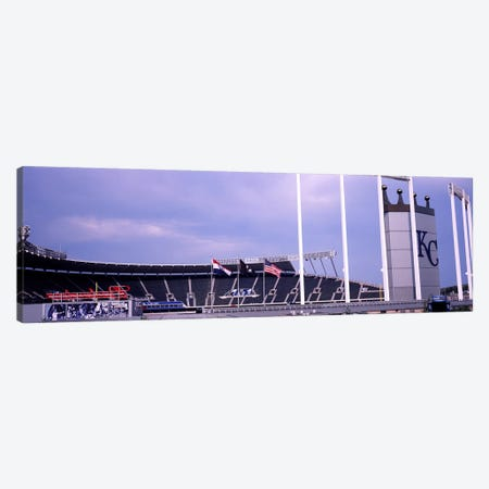 Baseball stadium in a city, Kauffman Stadium, Kansas City, Missouri, USA #2 Canvas Print #PIM10775} by Panoramic Images Art Print