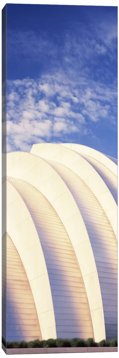 Low angle view of an entertainment building, Kauffman Center For The Performing Arts, Moshe Safdie, Kansas City, Missouri, USA Canvas Art Print