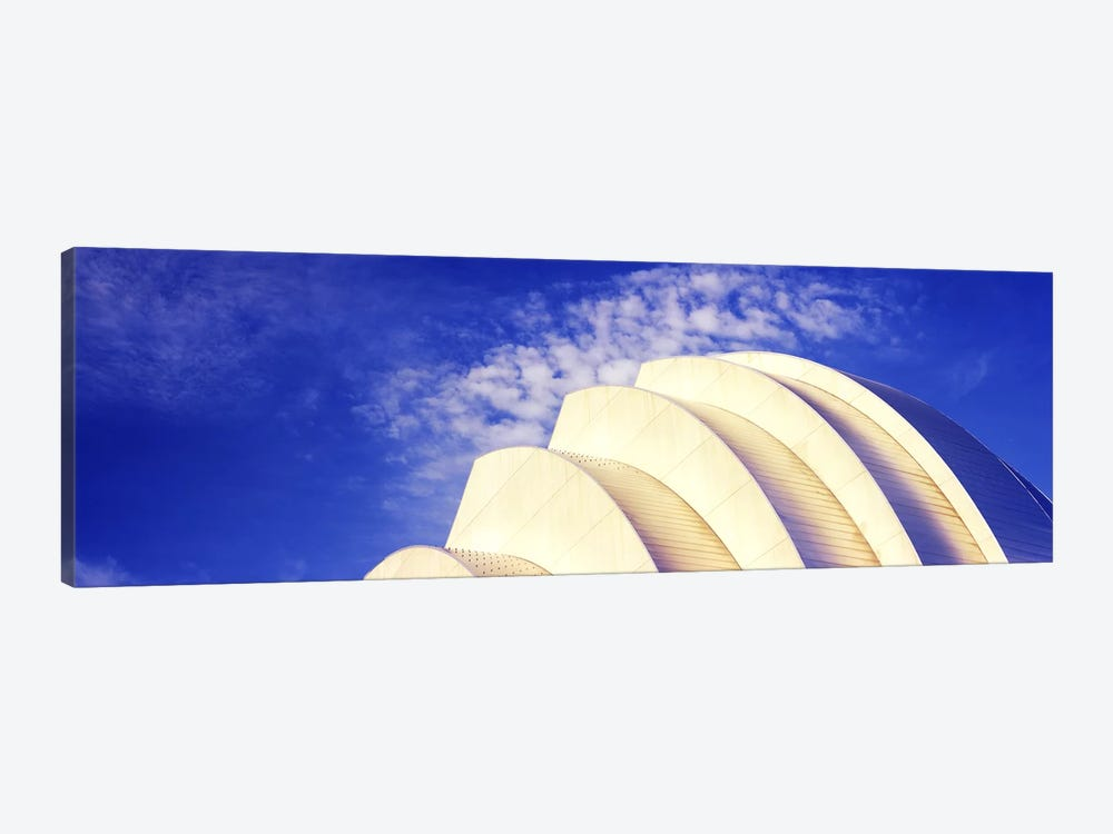 Low angle view of an entertainment building, Kauffman Center For The Performing Arts, Moshe Safdie, Kansas City, Missouri, USA # by Panoramic Images 1-piece Art Print