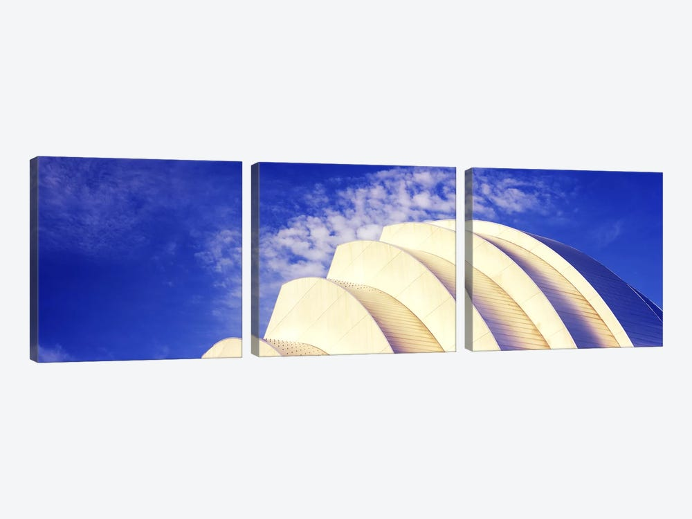 Low angle view of an entertainment building, Kauffman Center For The Performing Arts, Moshe Safdie, Kansas City, Missouri, USA # by Panoramic Images 3-piece Canvas Print