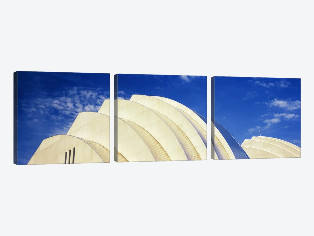 Low-Angle View Of The Top Of The Half Shells, Kauffman Center For The Performing Arts, Kansas City, Missouri, USA by Panoramic Images 3-piece Canvas Art