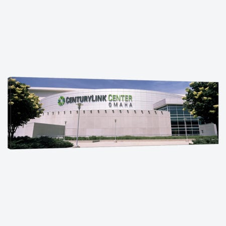 Facade of a convention center, Century Link Center, Omaha, Nebraska, USA Canvas Print #PIM10779} by Panoramic Images Canvas Wall Art