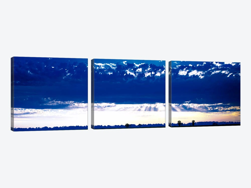 Evening Clouds Sacramento CA USA by Panoramic Images 3-piece Canvas Art